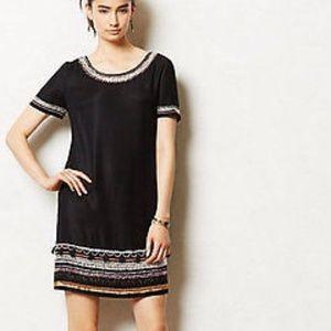 Maeve Black Embellished Shift Dress - 0